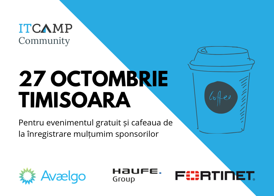 ITCamp Community Event (Timisoara) | 27 Octombrie 2018
